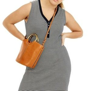 J Crew Size XXXS Henley Striped Midi Dress 882